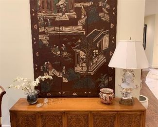 "Asian screen in excellent condition 69""x48"" - $350"