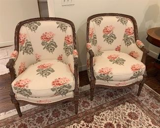 Pair of arm chairs $950