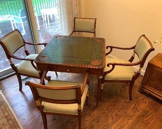 Maitland Smith game table $950 (chairs have sold)