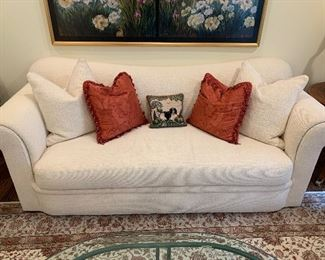Swaim Cream colored sofa in excellent condition $1950