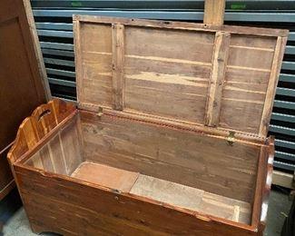 Like new large custom antique cedar chest. (2 pics) $275