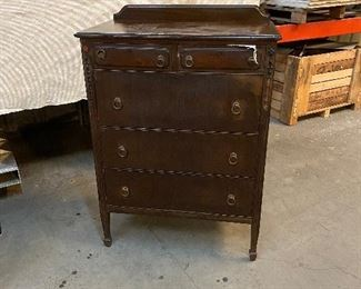 5-drawer antique mahogany dresser.  (great condition) $175