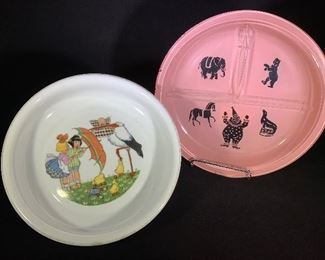 Vintage baby Dishes from the 1920s and 30s