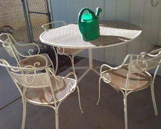 1950s heavy patio set