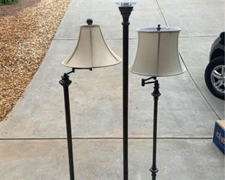 3 Standing Lamps to Enhance Reading All Dark Bronze Finish