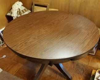 Laminate Top Table with Wooden Base