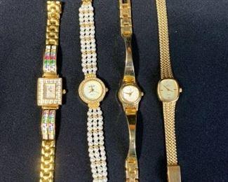 Lot of 4 Watches Alto, Majestron, Jules Jergenson, Rumors