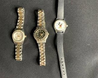 Marie Lourdes, Milan, and Mickey Mouse Watch Lot