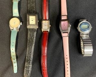 Lot of 5 Watches - Alice, Rumours, Infinity, Relic and Timex