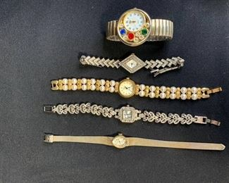 Lot of 5 Watches Waltham, Vivani, Azur, Homer and Episode