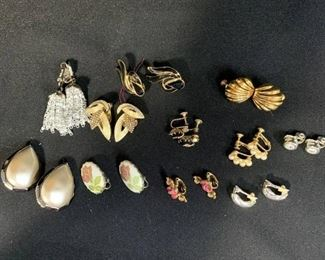 Lot of Clip on and Screw on Earrings - Mostly Vintage