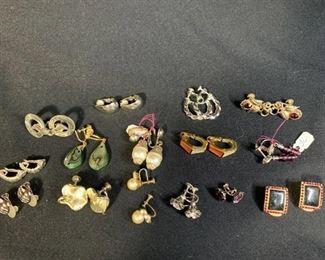 Lot of Vintage Costume Earrings