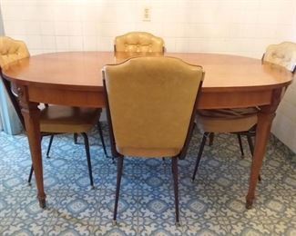 Beautiful Table with Retro Chairs