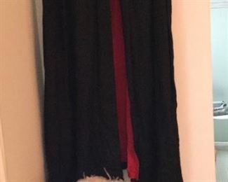 Knights of Columbus cape, hat with box, sash, sword.