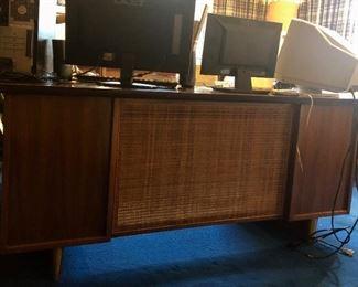"Executive desk, 66""X34"", front view"