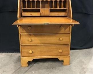 Lot 13 Secretary Desk with 3 Drawers
