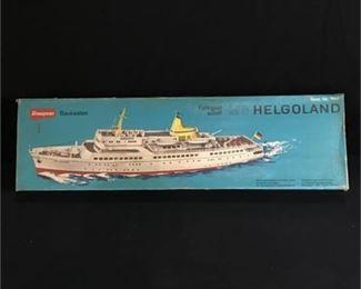Lot 24 Graupner 'MS Helgoland' Balsa Wood Kit Model kit 1:100 scale
