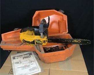 """Lot 32 Poulan 205 15"""" Gas Chain Saw w/ Hard case"""