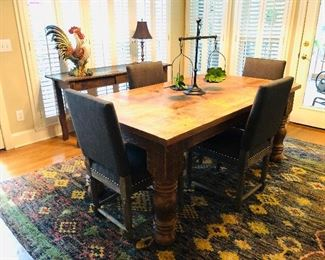 $750 - Rustic Anteks dining table, 40x71x30