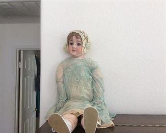 Antique doll, porcelain head, Victorian era, 1800's belonged to clients grandmother MAKE OFFER