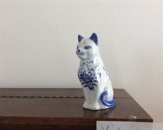 Blue and white cat