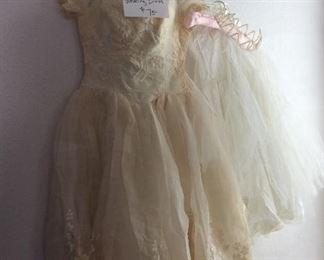 Vintage wedding dress, 1950's