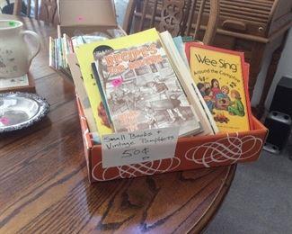 Vintage kids books and handbags