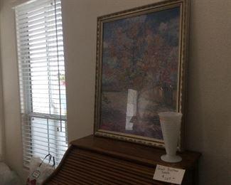 Art, milk glass