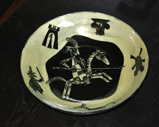 Large Don Quixote Center Bowl by Franz Bergmann - $485