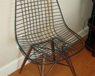 Early Eames DKW Chair with Walnut Legs - Rare! - $950