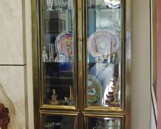 Great 1970's Brass Illuminated Vitrine by Mastercraft- $1,950