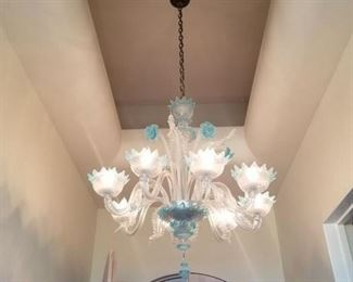 "Murano Glass 34 X 36"" Blown Glass Chandelier $1500 (I am sorry - I thought it was sold!  But it's available)"
