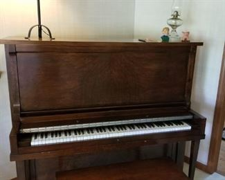 Pease New York Upright Piano & Bench