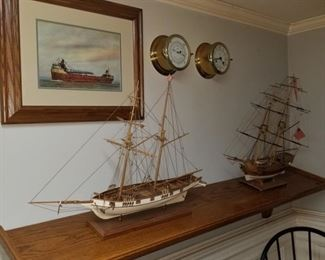 Handcrafted ship models