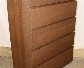 Lot 1001 Like New Contemporary 5 Drawer High Chest in the Grey Wash Finish