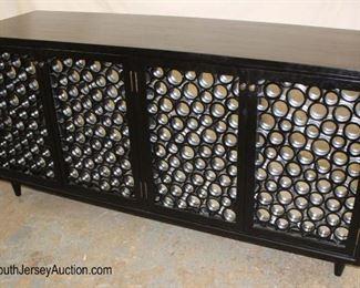 Lot 1003 Like New Designer Decorator 4 Door Buffet
