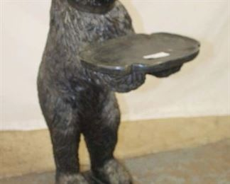Lot 1005 Black Carved Bear with Tip or Business Card in the Composition