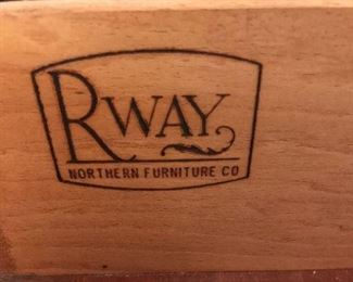 Rahway 5 item bedroom set. Rahway is known for Craftmanship and Quality.  Active during early 1940's and onward.  Solid Mahogany.