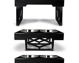 Pet Zone Designer Diner Elevated Dog Feeder, Black