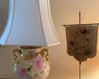 Dragon Lamp and Screen