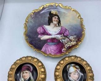 Large Platter and Smaller Porcelain Pieces