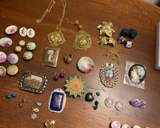 Necklaces, Earrings, Pins