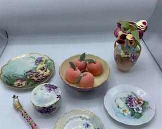 Pansy Porcelain Items