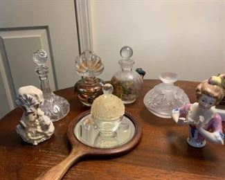 Perfume Bottles and Pin Lady