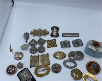 Pins, Buckles, Mirror, and More