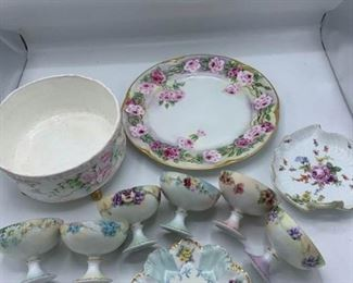 Porcelain Trifle, Pedestal Bowls, Rose Platter