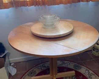 Round Table, Lazy Susan, Set of Bowls