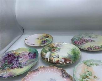 Six Porcelain Plates