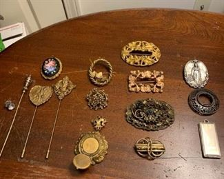Sterling Pins, Copper, Hat Pins, and More