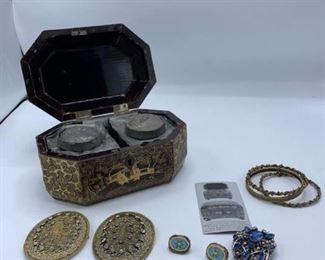 Tea Caddy and Jewels